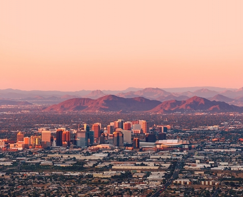 Phoenix, AZ Sunset Skyline